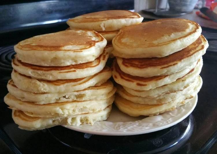 Alton Brown Pancakes  Buttermilk Pancakes Alton Brown Recipe by Tyson Diener