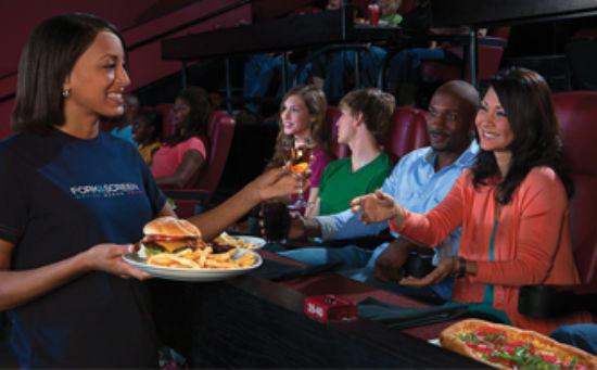 Amc Dinner And A Movie  AMC Now Serving Food In Theater Alamo Drafthouse Style