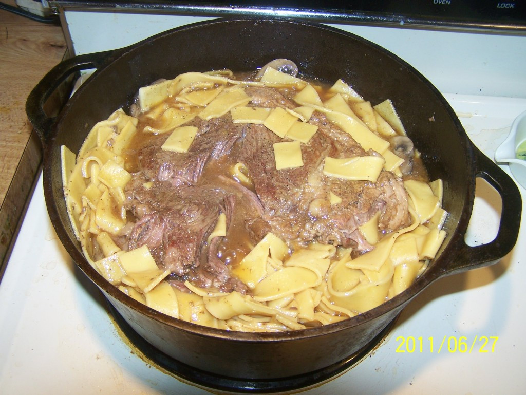 Amish Beef And Noodles  Amish Style Beef and Noodles Cast Iron Pan Store