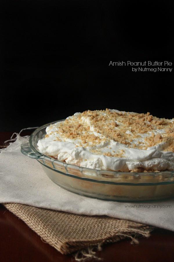 Amish Peanut Butter Pie  Amish Peanut Butter Pie