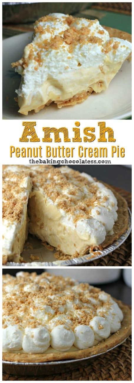 Amish Peanut Butter Pie  Amish Peanut Butter Cream Pie