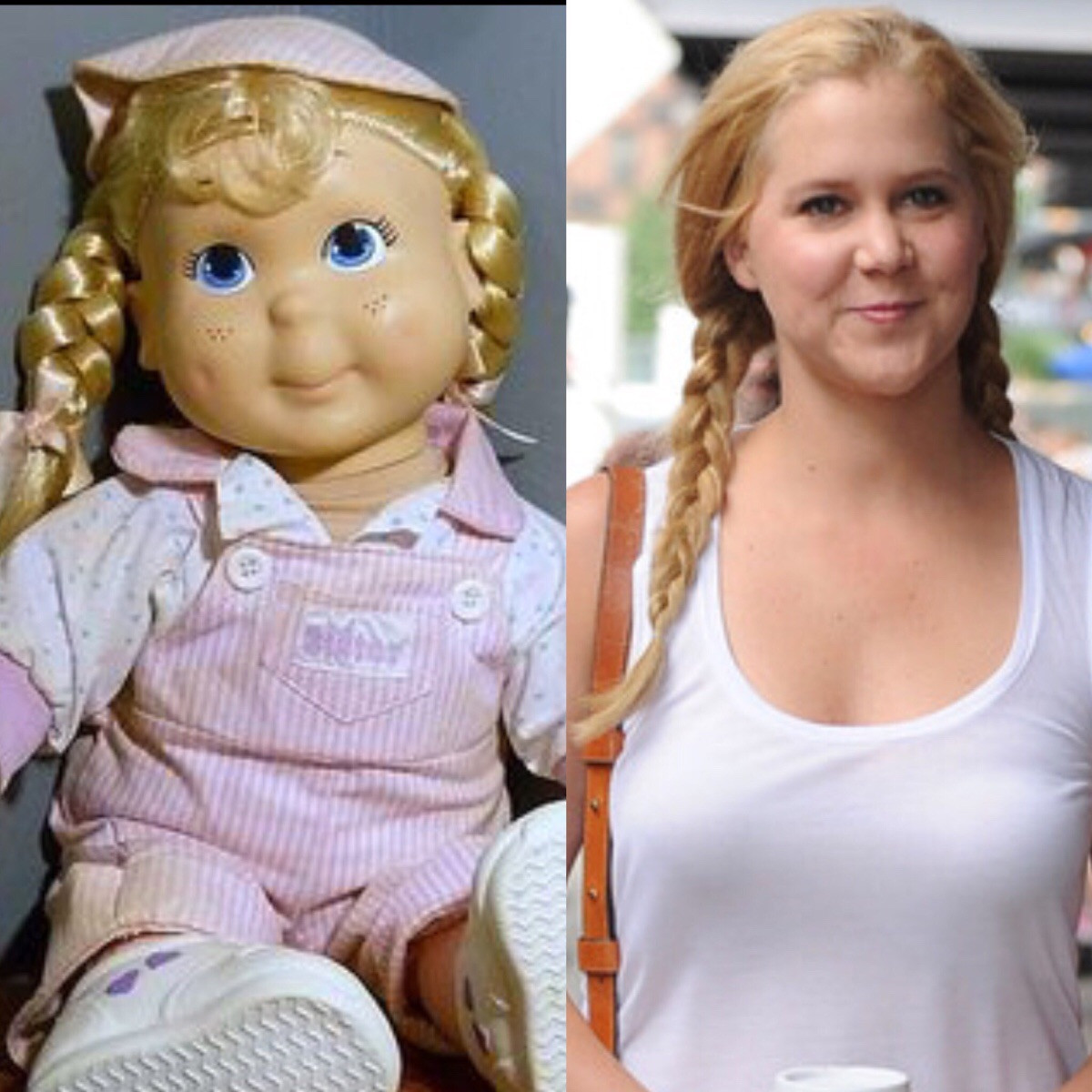 Amy Schumer Or Potato  Amy Schumer looks just like a Kid Sister doll