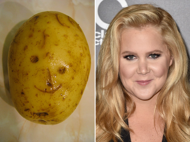 Amy Schumer Or Potato  Amy Schumer or Potato Can You Tell the Difference