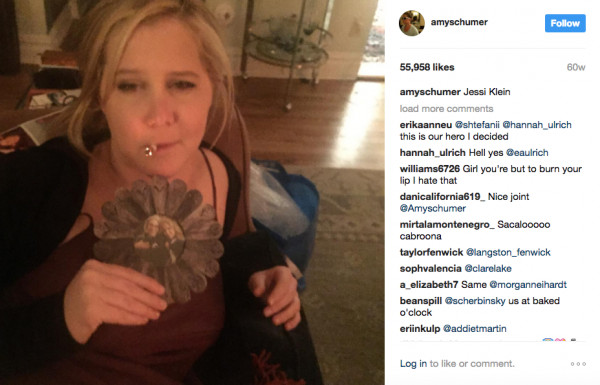 Amy Schumer Or Potato  No Filter Needed 10 Celebs Who Smoke Weed on Instagram