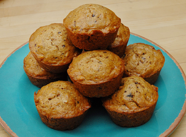 Ancient Egyptian Desserts  Banana Muffins with Chocolate and Pecans