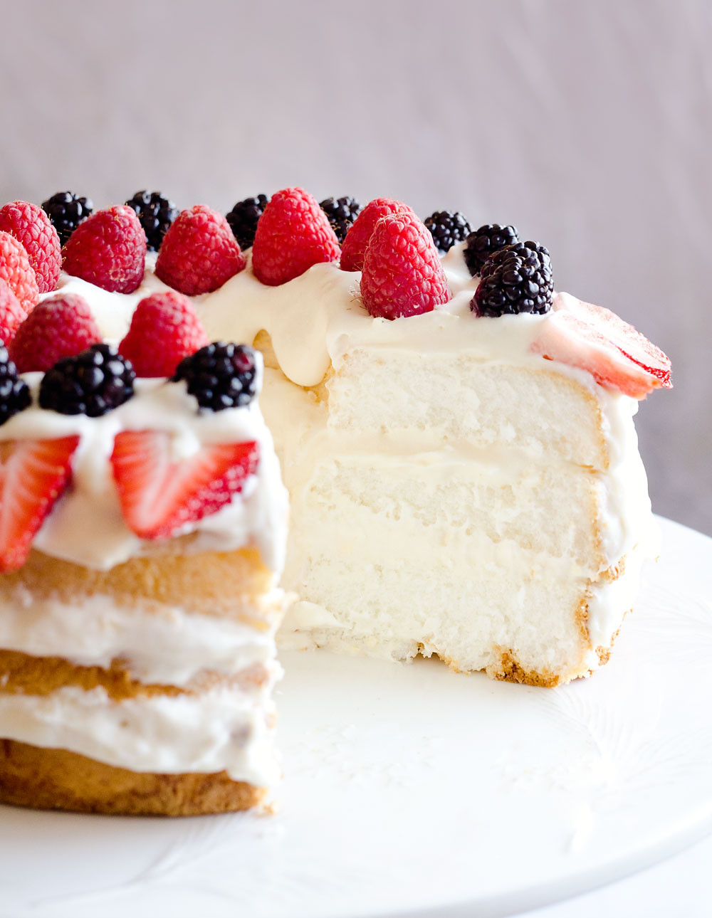 Angel Food Cake  Light Berry Angel Food Cake 15 Minute Dessert