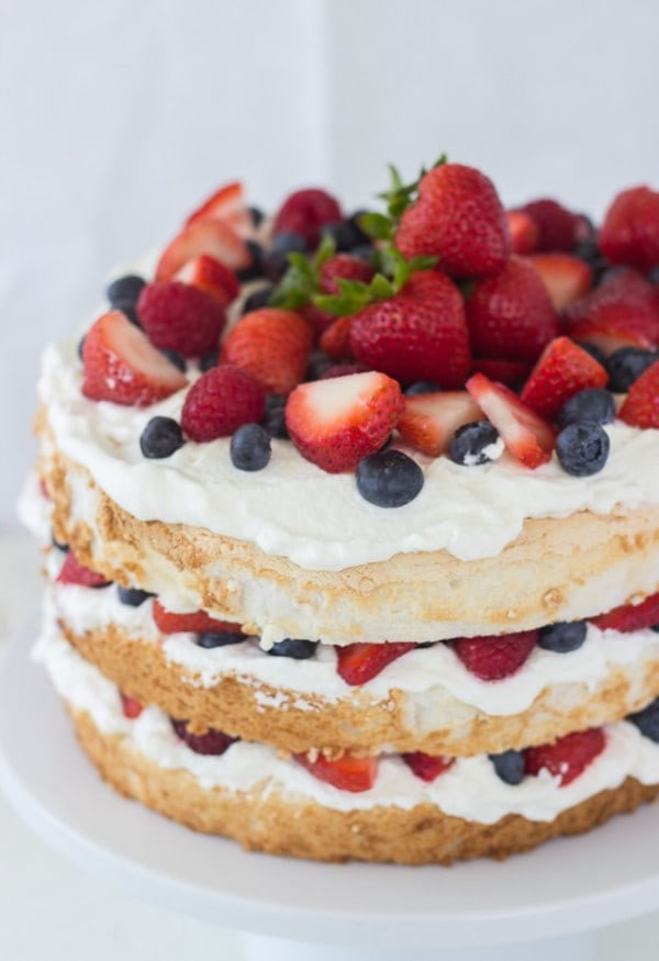 Angel Food Cake Desserts Recipes  Angel Food Cake with Coconut Whipped Cream and Berries