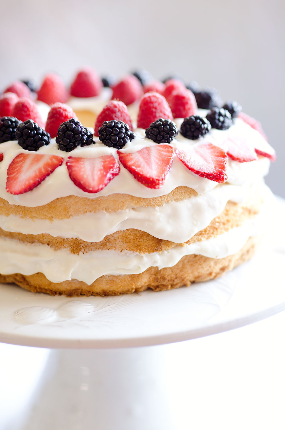 Angel Food Cake Desserts Recipes  Light Berry Angel Food Cake 15 Minute Dessert