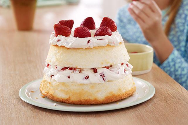 Angel Food Cake Desserts Recipes  Strawberry Angel Food Cake Kraft Recipes