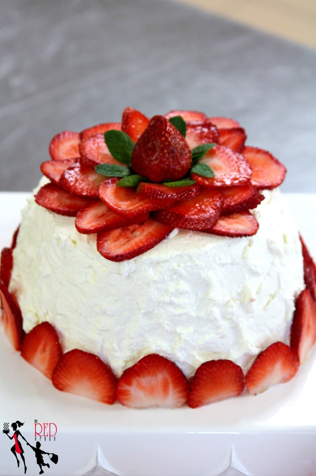 Angel Food Cake Toppings  The Red Apron Happy Happy Birthday to my Very Good Friend