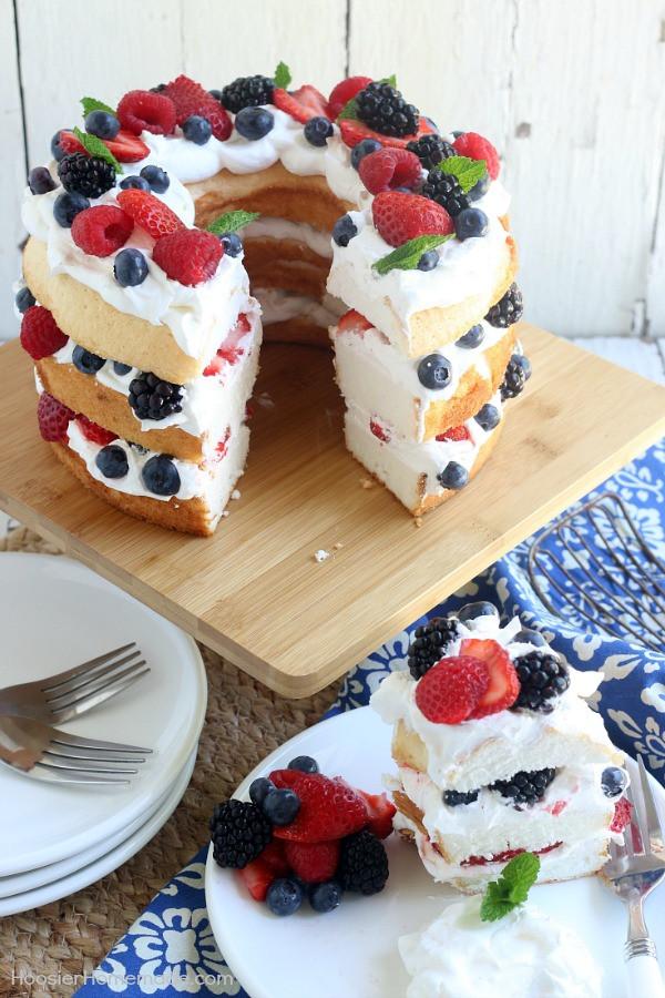 Angel Food Cake Toppings  Angel Food Cake with Berries Hoosier Homemade