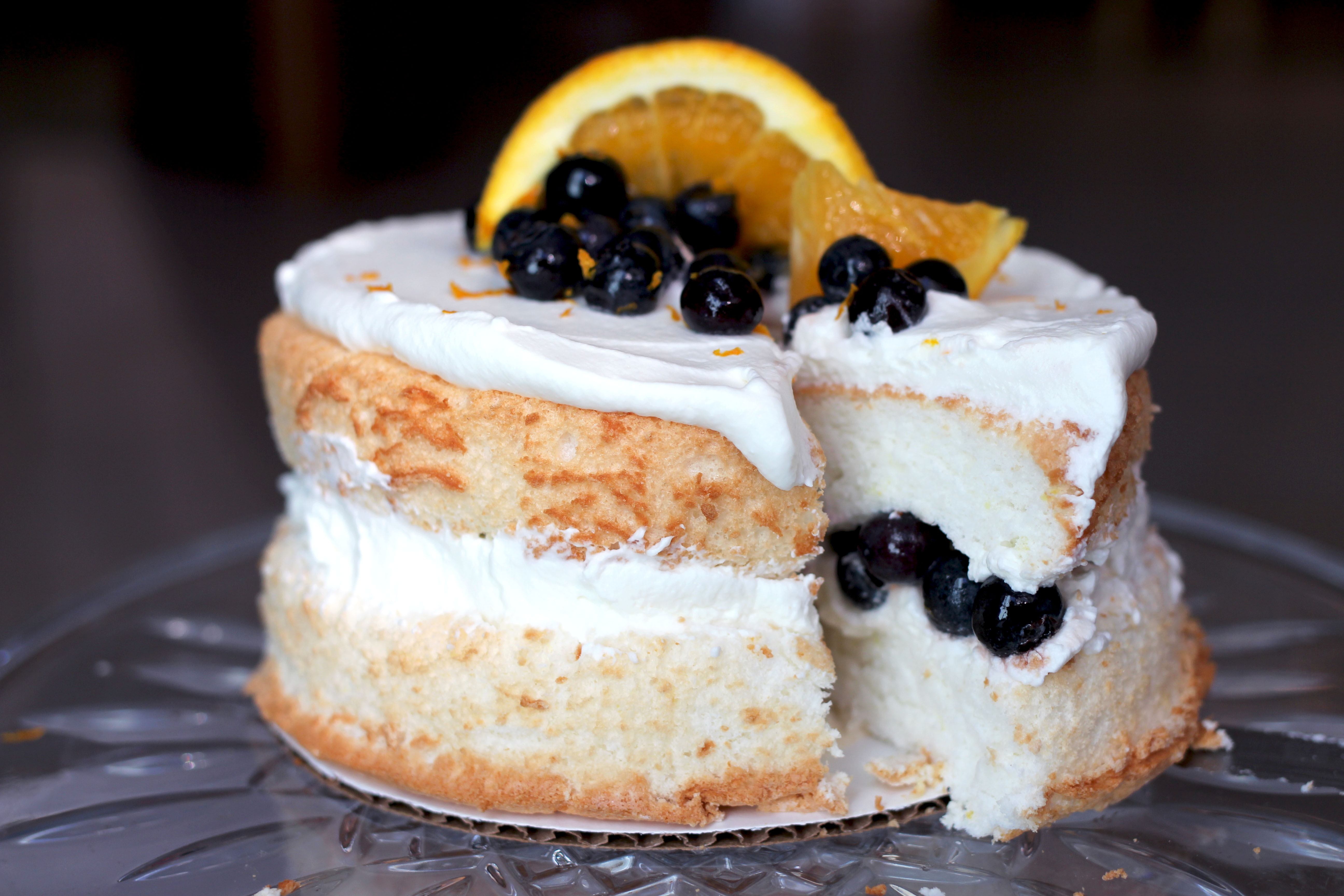 Angel Food Cake Toppings  blueberry angel food cake topping