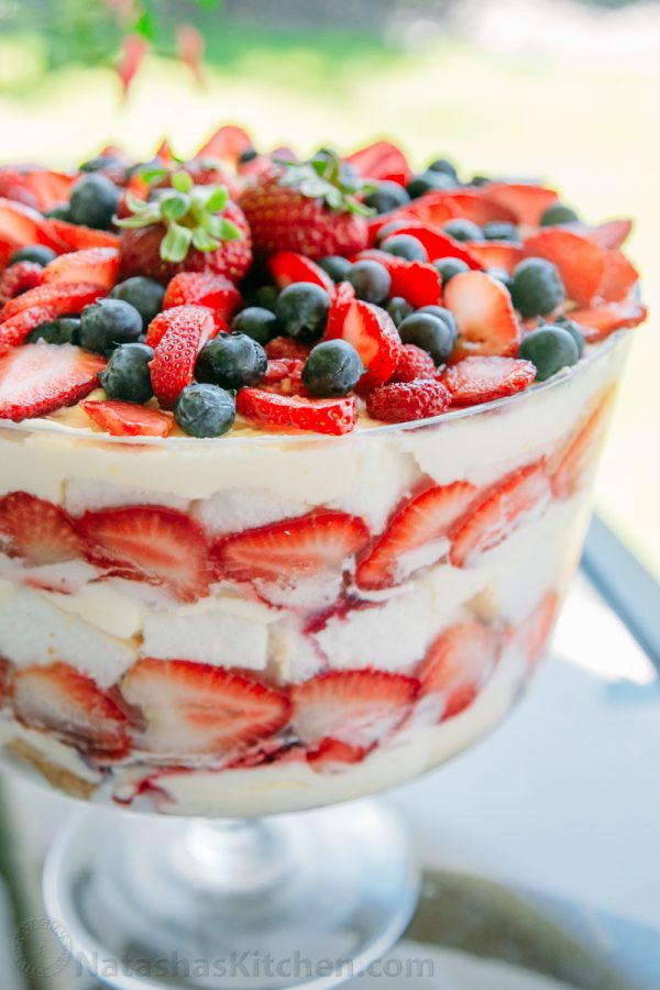 Angel Food Cake Trifles  angel food cake trifle recipe with pudding
