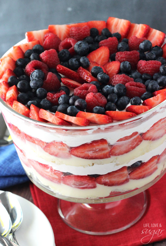 Angel Food Cake Trifles  Triple Berry Trifle Life Love and Sugar