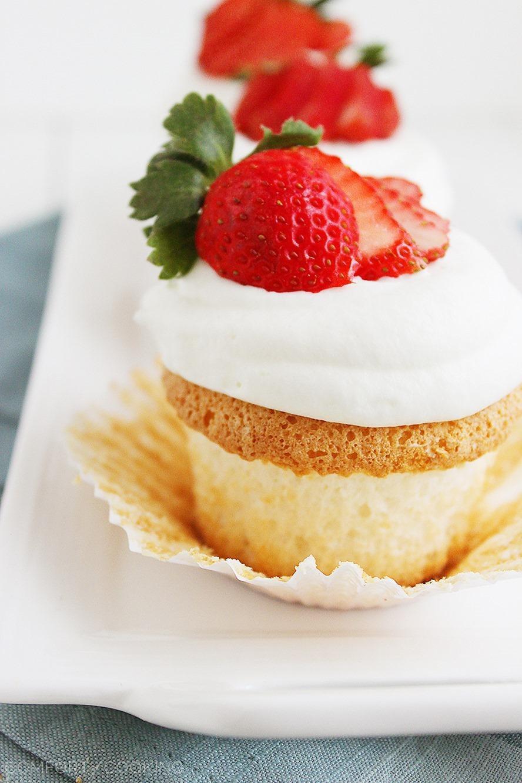 Angel Food Cupcakes  Angel Food Cupcakes