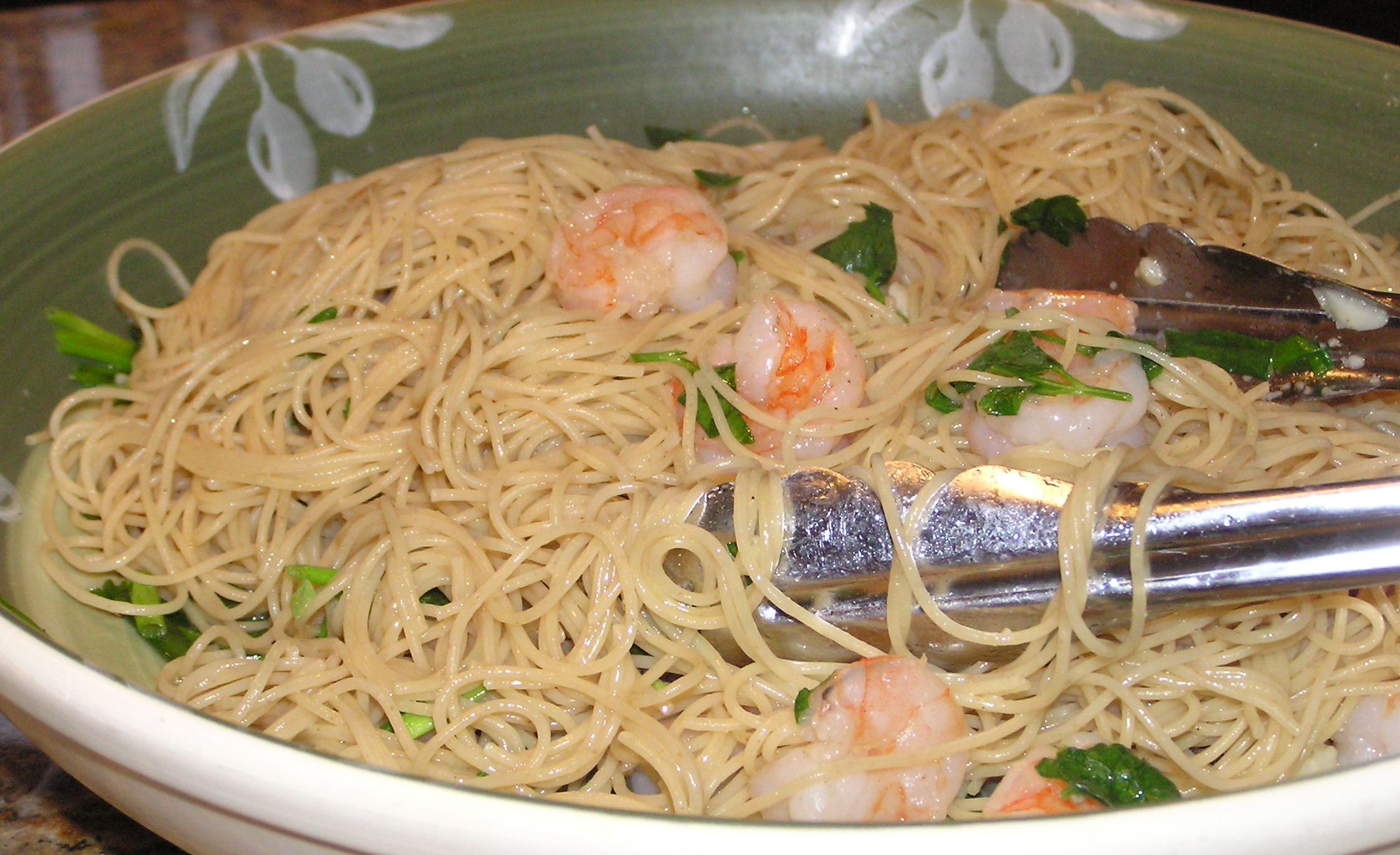 Angel Hair Pasta With Shrimp  Shrimp scampi with angel hair pasta