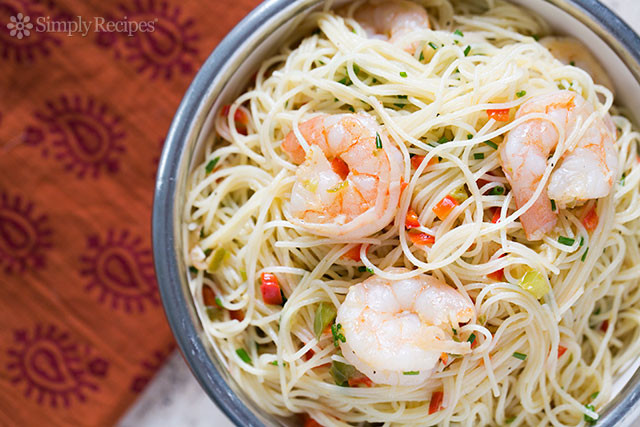 Angel Hair Pasta With Shrimp  Shrimp with Angel Hair Pasta Recipe