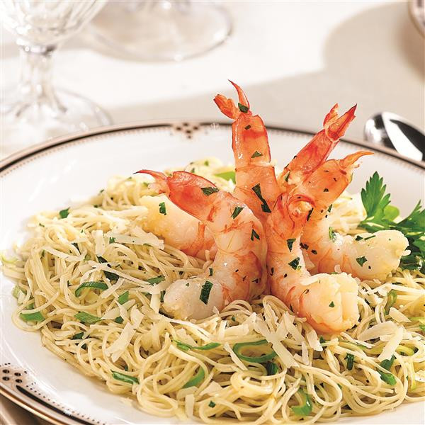 Angel Hair Pasta With Shrimp  Garlic Shrimp and Angel Hair Pasta