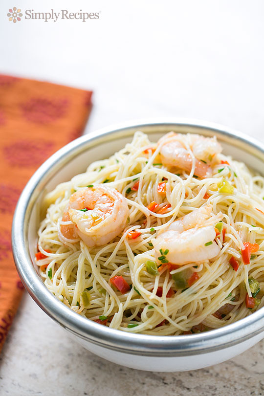 Angel Hair Pasta With Shrimp  Confetti Shrimp with Angel Hair Pasta Recipe