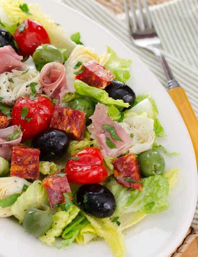Antipasto Salad Recipes  Antipasto Salad with Easy Italian Dressing
