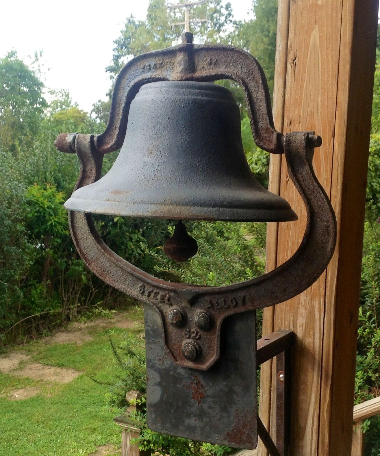 Antique Dinner Bell  This is a VERY RARE 62 antique cast iron school church