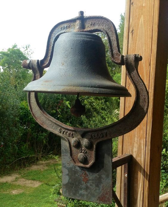 Antique Dinner Bell  Reserved for KIM Antique 1800s Cast Iron Church School