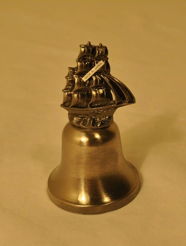 Antique Dinner Bell  Vintage Nautical Ship Dinner Bell Vintage Sail Ship