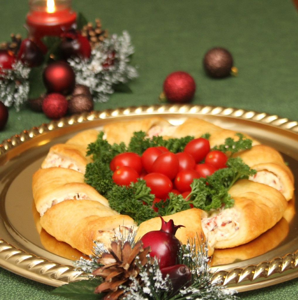 Appetizers For Christmas Party  Christmas Wreath Appetizer Recipe Just Short of Crazy
