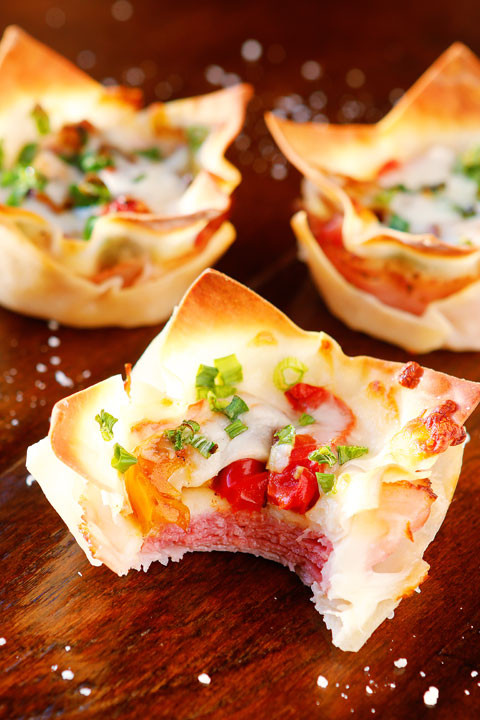 Appetizers For Italian Dinner  Spicy Italian Ham & Cheese Cups