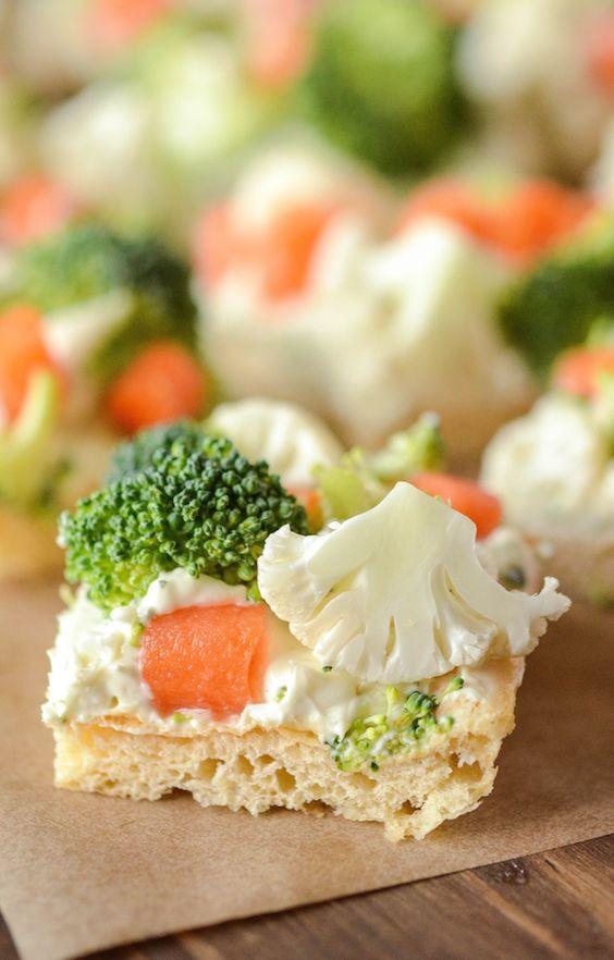 Appetizers For Potluck  Ranch Veggie Bars Recipe