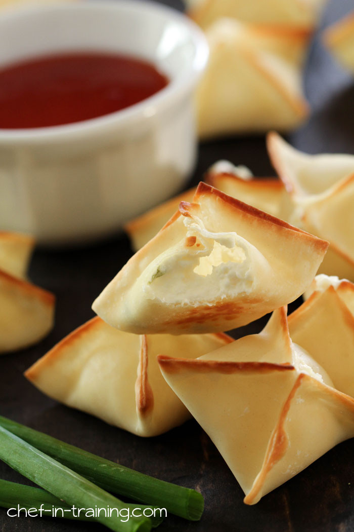 Appetizers With Cream Cheese  BAKED Cream Cheese Rangoons Chef in Training