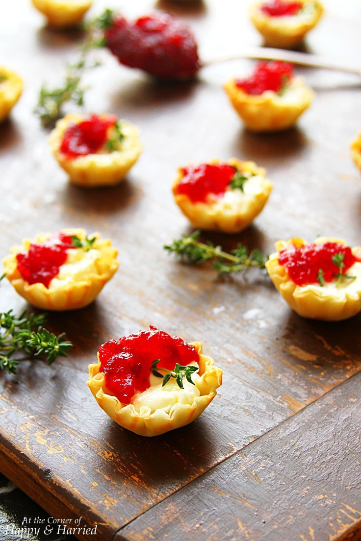 Appetizers With Cream Cheese  Cranberry & Cream Cheese Mini Phyllo Bites Christmas