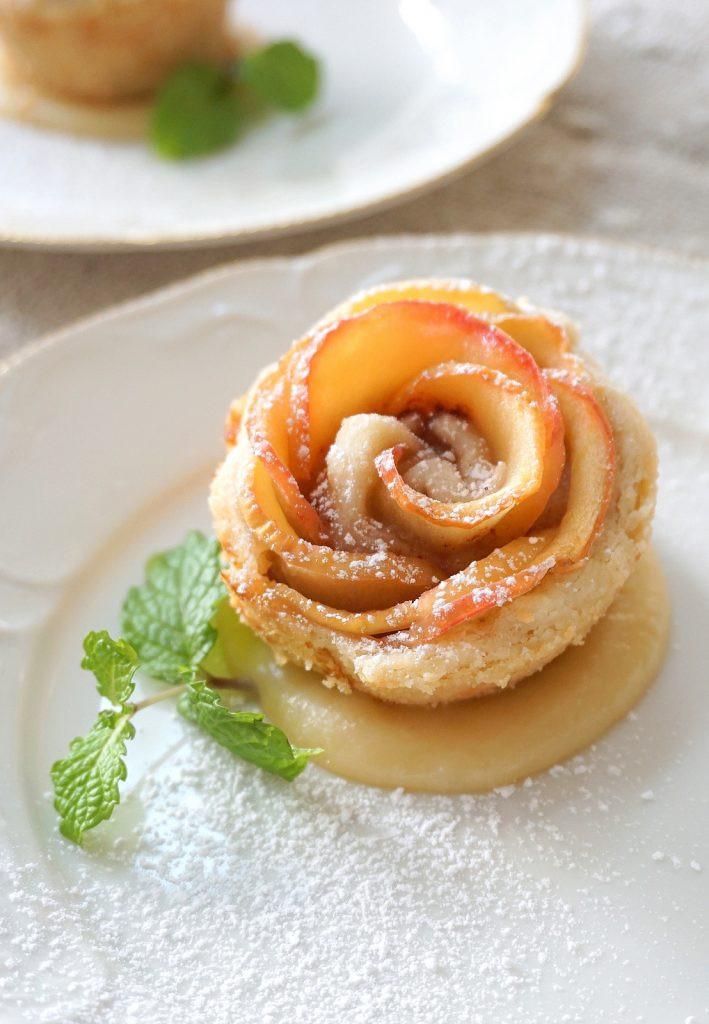 Apple Blossom Dessert  baked apple blossoms