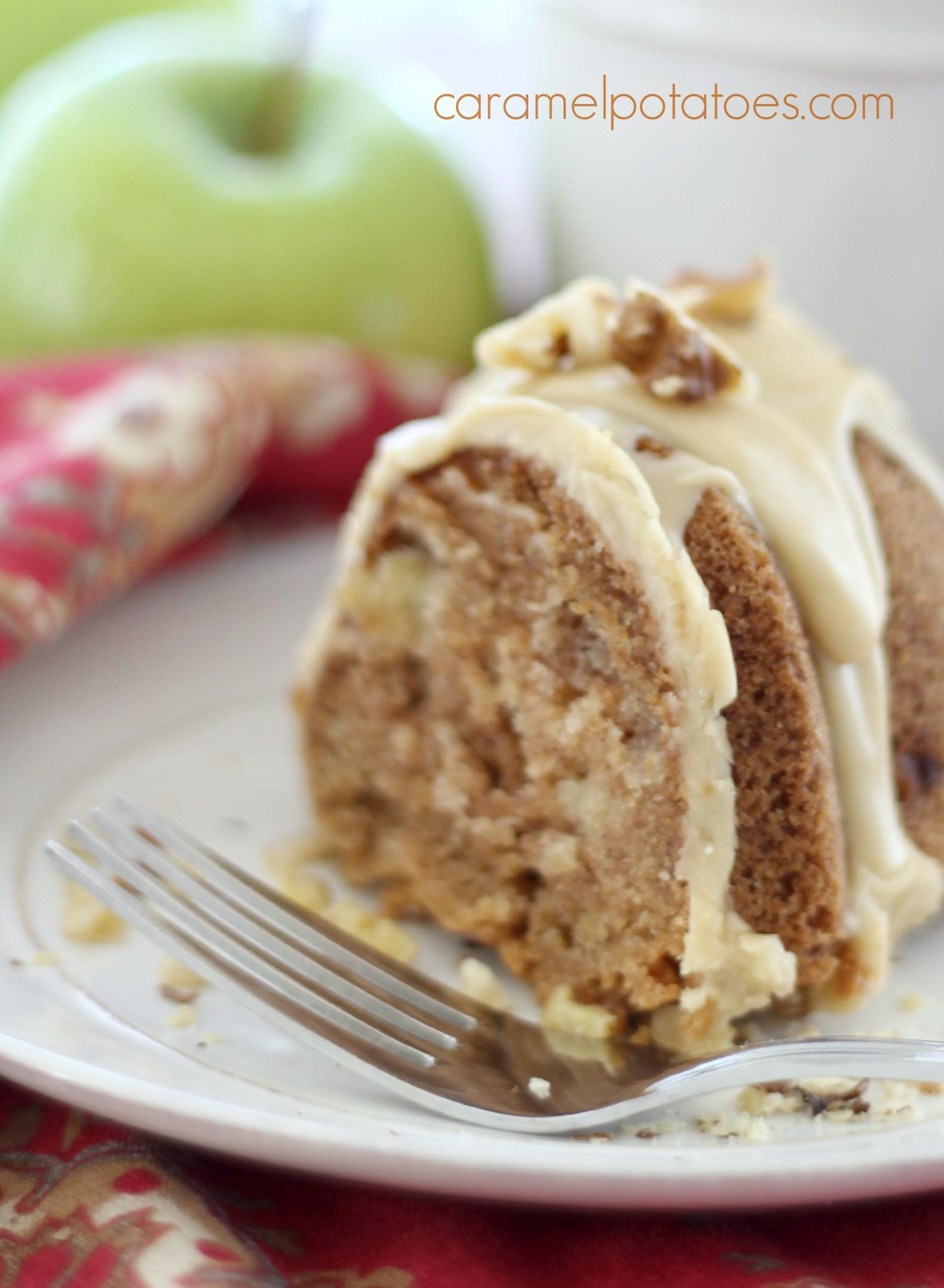 Apple Bundt Cake  Caramel Apple Bundt Cake Cooking With Ruthie