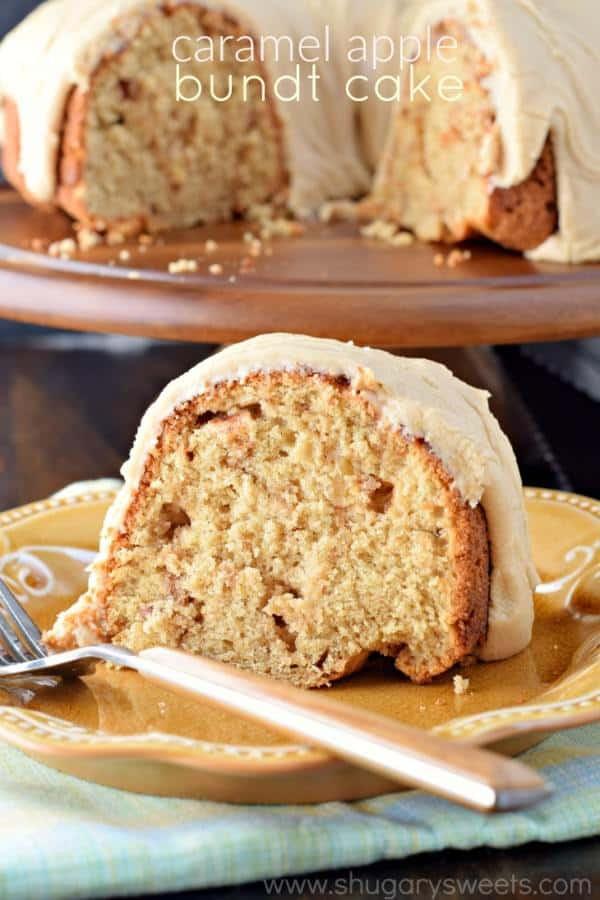 Apple Bundt Cake  Caramel Apple Bundt Cake Shugary Sweets