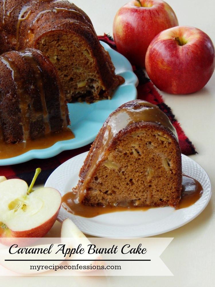Apple Bundt Cake  apple bundt cake with caramel sauce