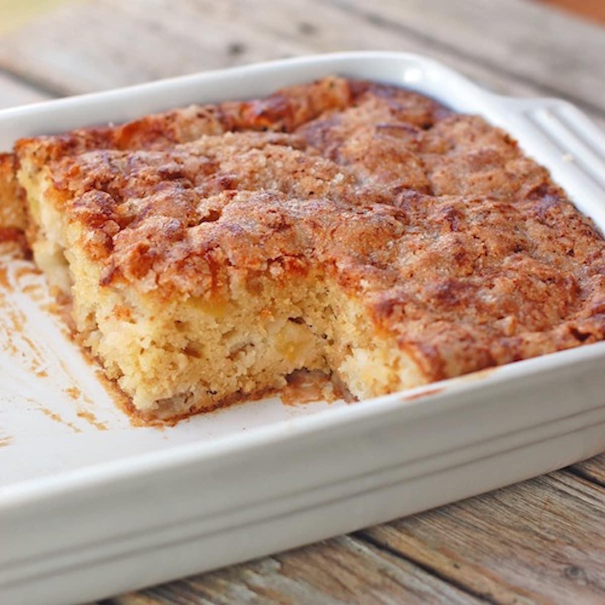 Apple Cake Easy  Cinnamon Sugar Apple Cake Recipe Pinch of Yum