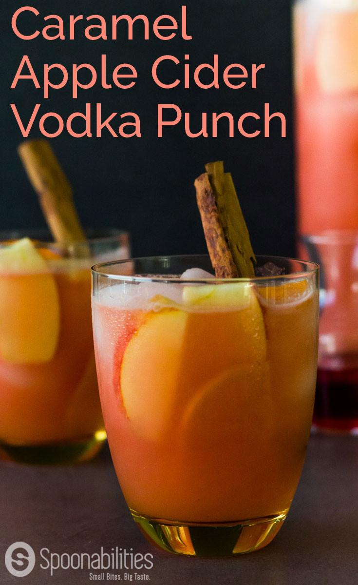 Apple Cider Drink  Caramel Apple Cider Vodka Punch Cocktail