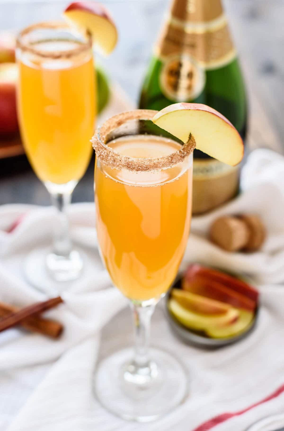 Apple Cider Drink  Apple Cider Champagne Cocktail