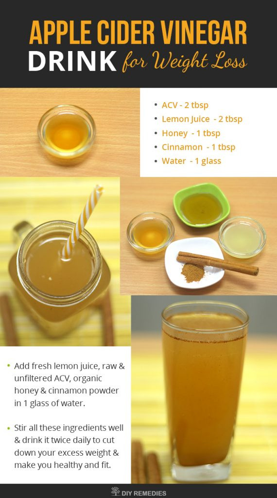 Apple Cider Vinegar And Weight Loss  apple cider vinegar recipe for weight loss