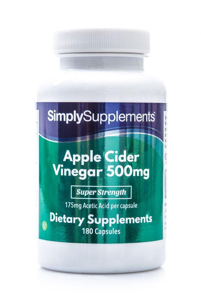 Apple Cider Vinegar Pills Weight Loss  Apple Cider Vinegar 500mg 180 Capsules