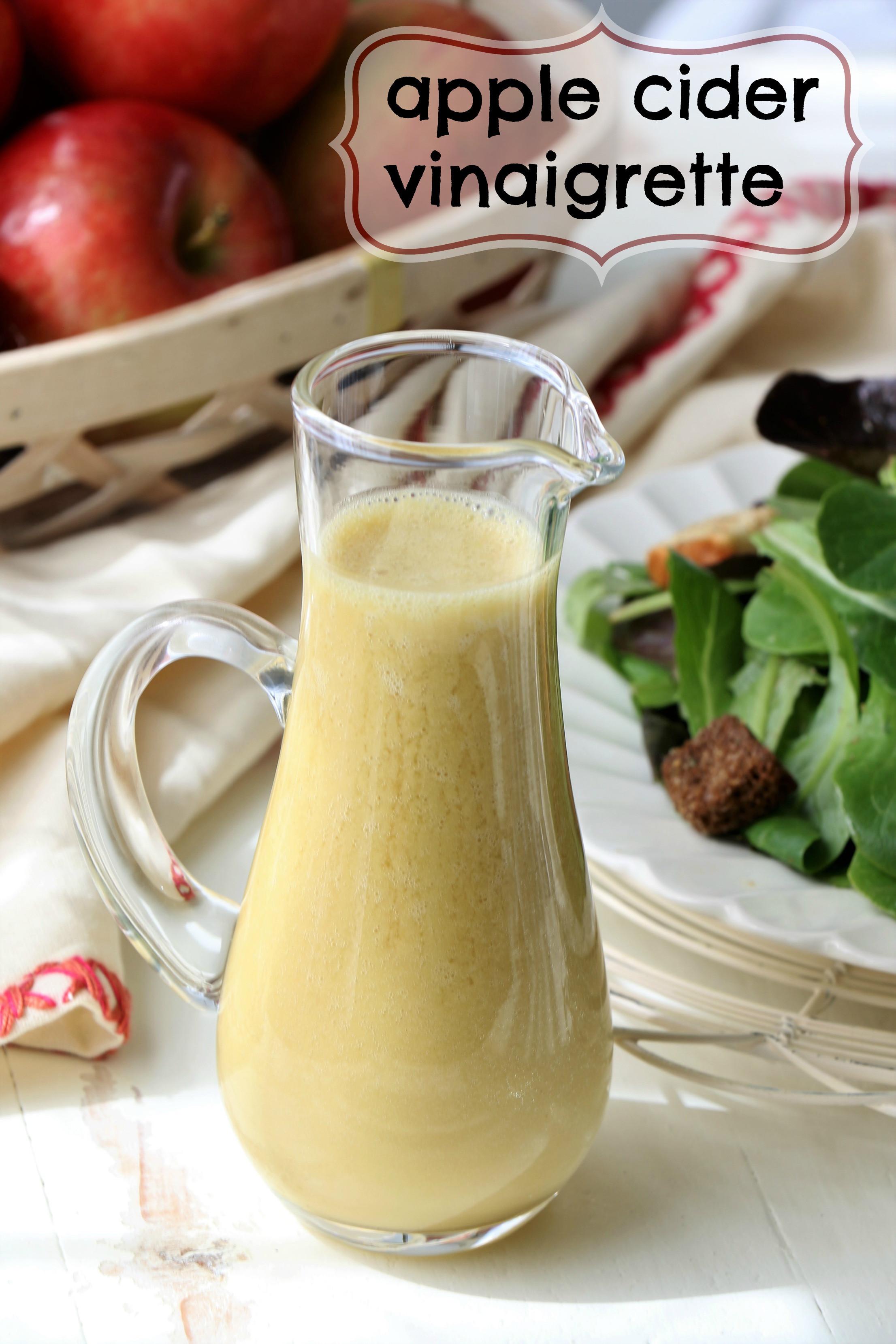 Apple Cider Vinegar Salad Dressing  Apple Cider Vinaigrette