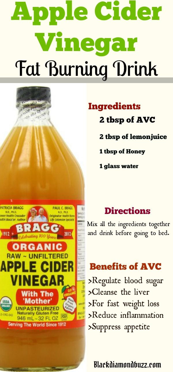 Apple Cider Vinegar Weight Loss Recipe  Apple Cider Vinegar for Weight Loss in 1 Week how do you