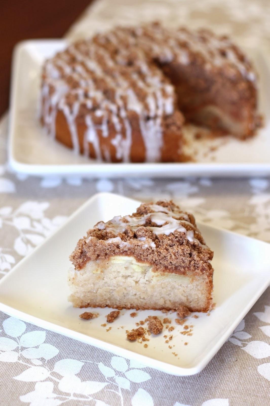 Apple Cinnamon Coffee Cake  Sarah Bakes Gluten Free Treats gluten free vegan apple