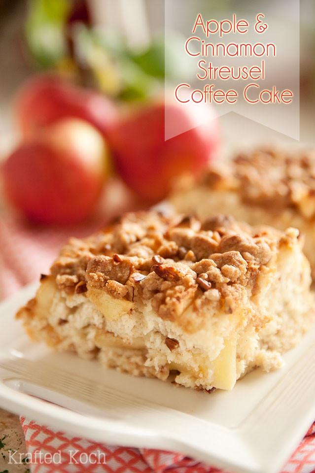 Apple Cinnamon Coffee Cake  Apple & Cinnamon Streusel Coffee Cake Page 2 of 2