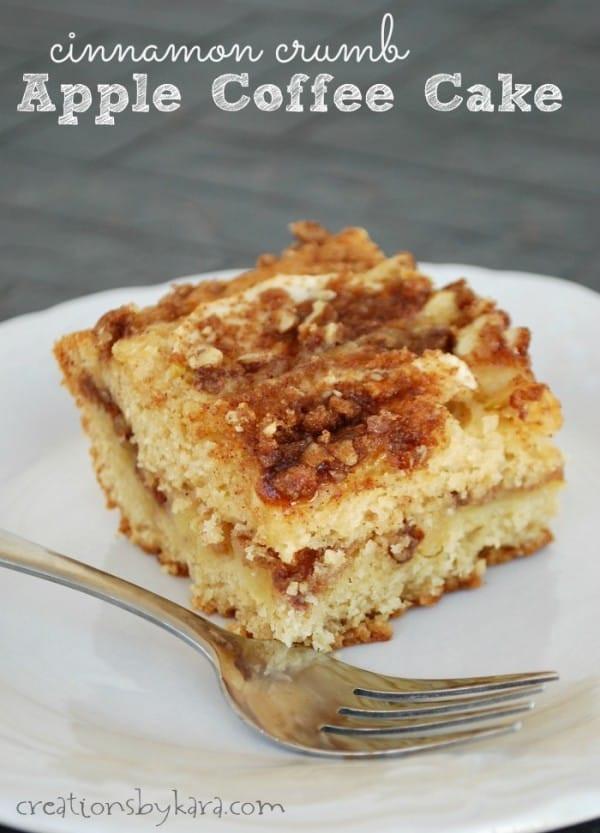 Apple Cinnamon Coffee Cake  Cinnamon crumb apple coffee cake