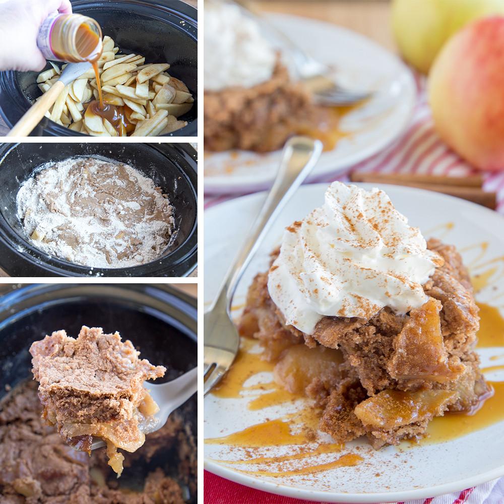 Apple Cobbler With Cake Mix  crockpot apple crisp with spice cake mix