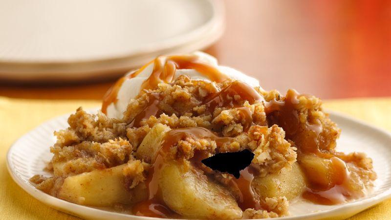 Apple Crisp Dessert  Caramel Apple Crisp recipe from Betty Crocker