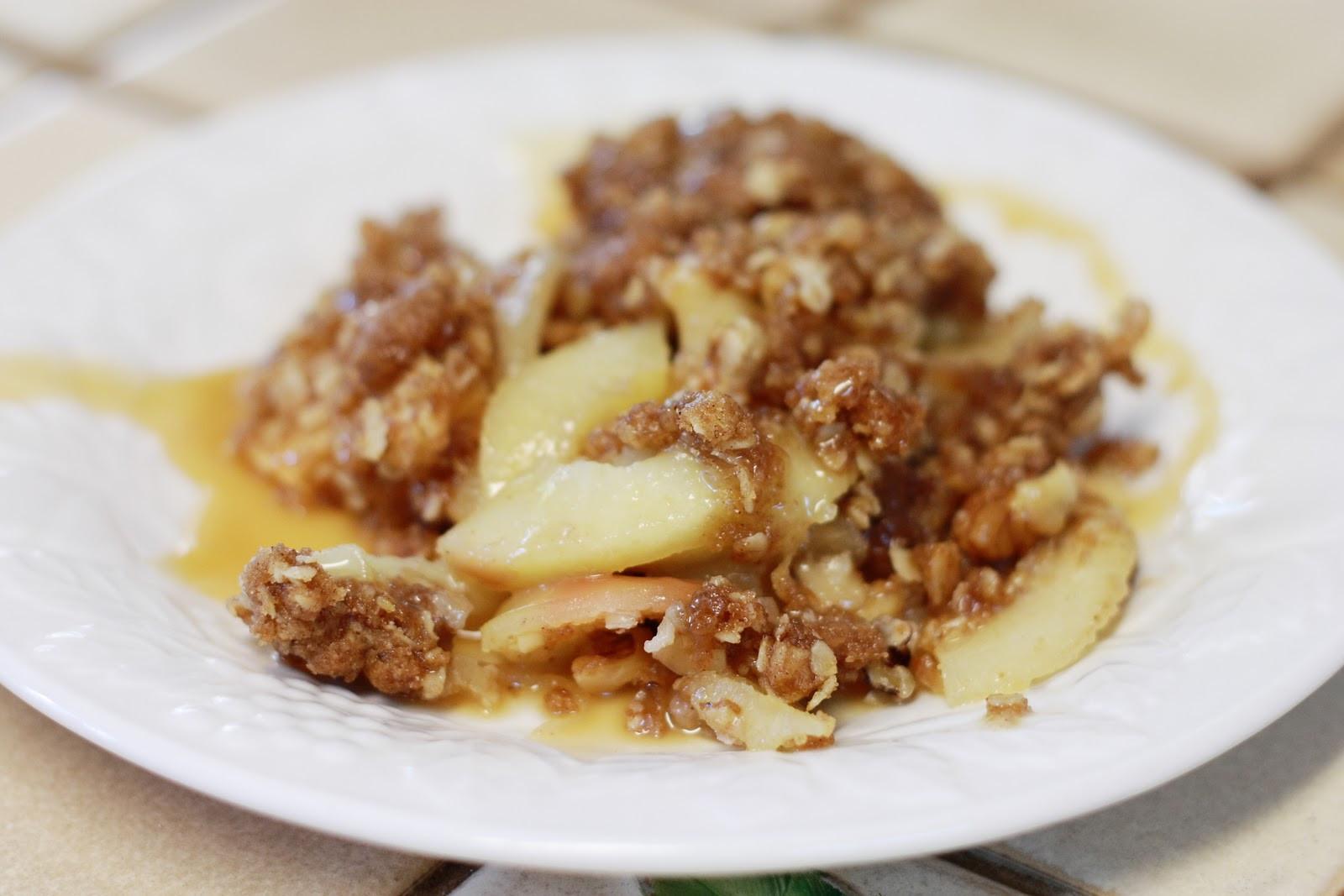 Apple Crisp Dessert  Gluten Free & Vegan Apple Crisp Dessert