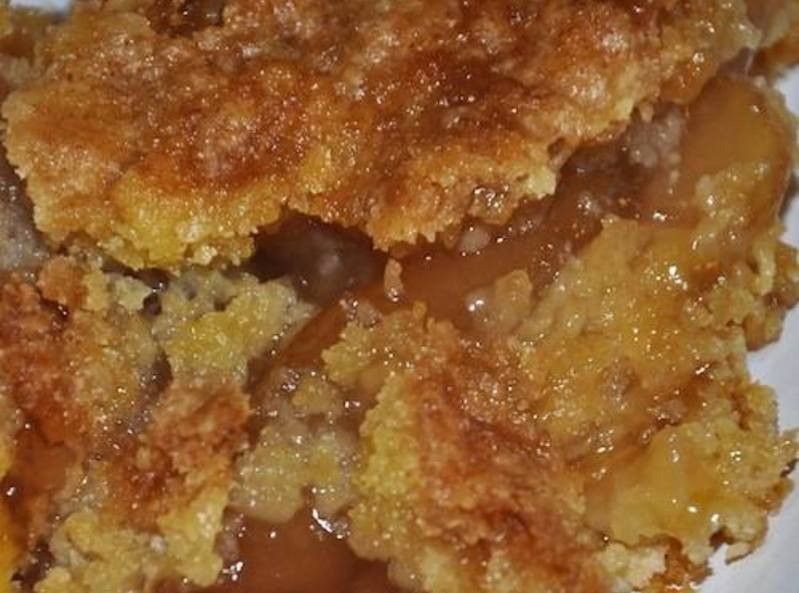 Apple Dump Cake Recipe  Caramel Apple Dump cake recipe with 4 ingre nts 5